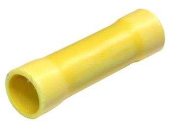 Crimp - Insulated Butt, 12-10AWG, Yellow, 25/pk